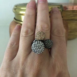 Stella and Dot pave trip ring